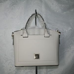 DOONEY AND BOURKE BEACON DOMED SATCHEL BONE LTHER